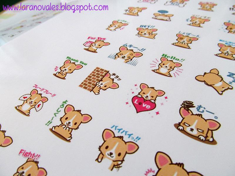 corgi planner stickers