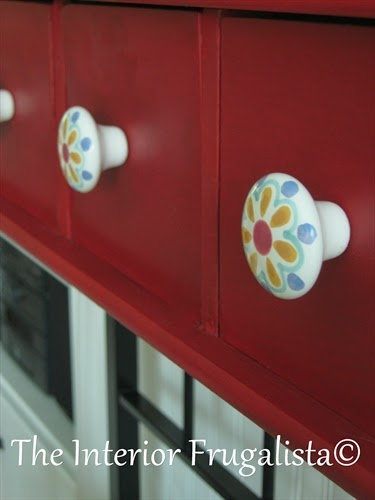 Painted Baker's Rack with handpainted knobs