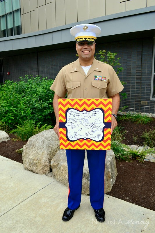 Marine Corps themed Canvas Kudos guest book