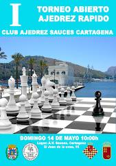 """I Torneo Abierto de Ajedrez Rápido """"Club Ajedrez Sauces"""" Cartagena 2017"""