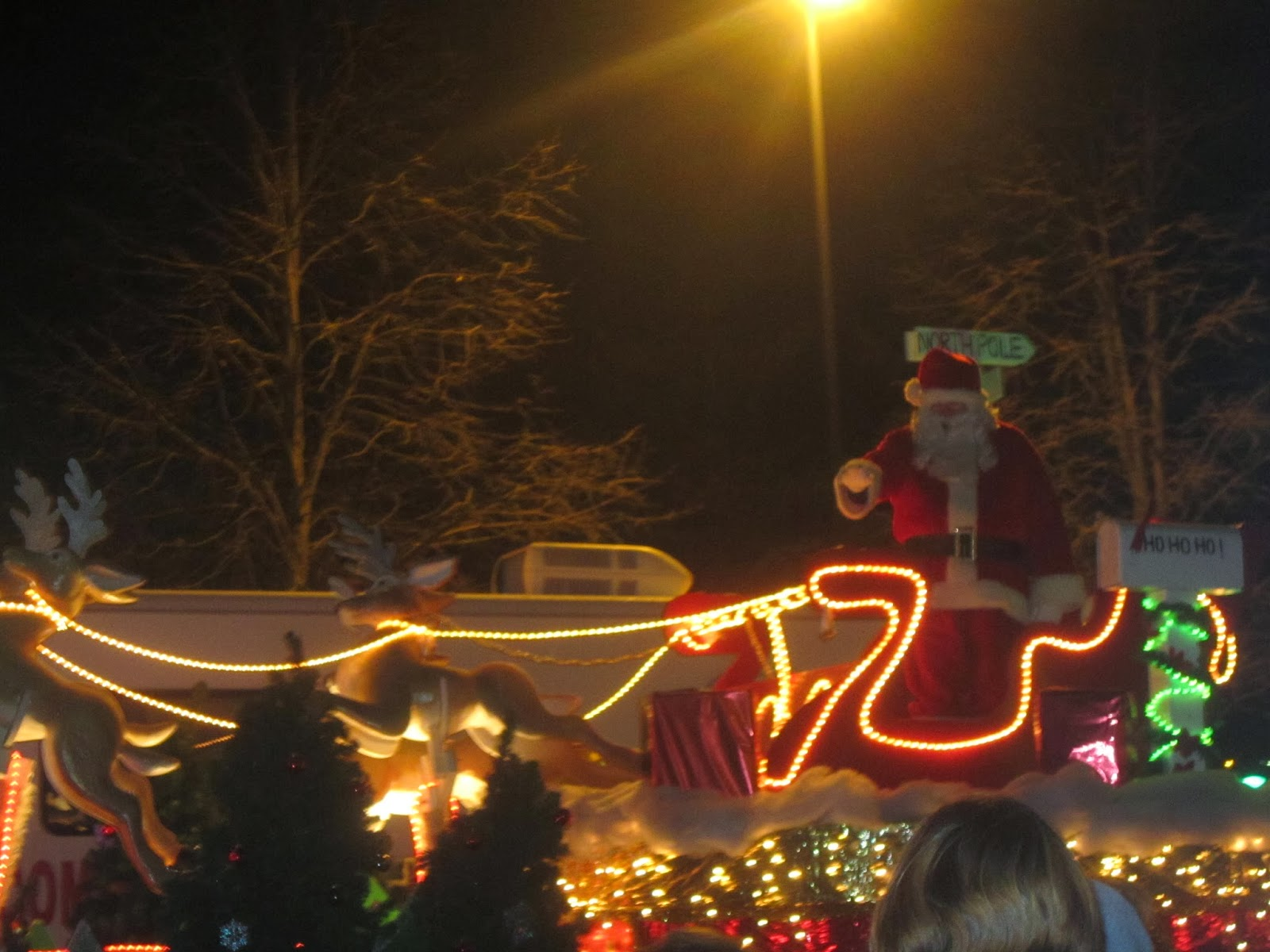 Christmas, kids, family, float, parade, Santa