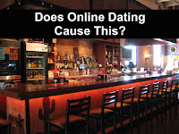 Empty bar caused by online dating image