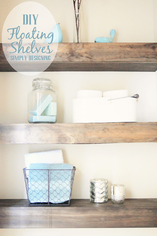 DIY Floating Shelves Bathroom