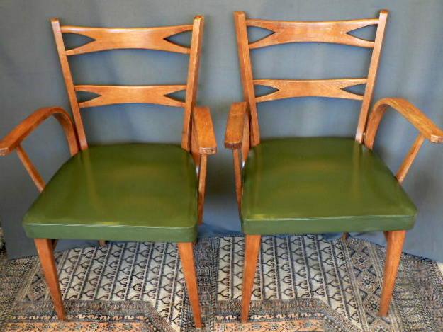 Vintage kitsch siglo xx sillas mochol pareja a os 60 - Sillas anos 60 ...