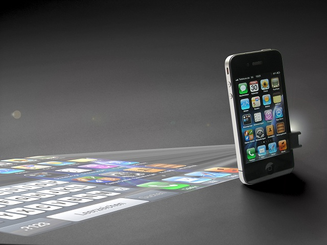 Iphone 5 could have micro projector digitspark for Iphone 6 projector