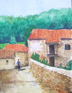 watercolor,acuarela,aquarel·la,gúa,somiedo,asturias,rmora