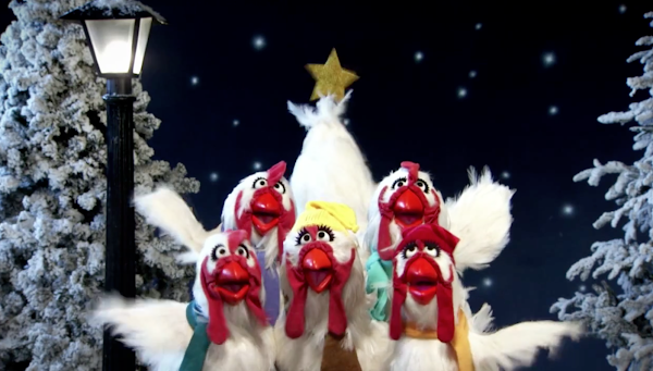 chicken Muppets singing Joy To The World