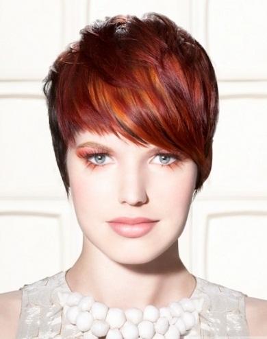 Glossy Short Hair Style 2014