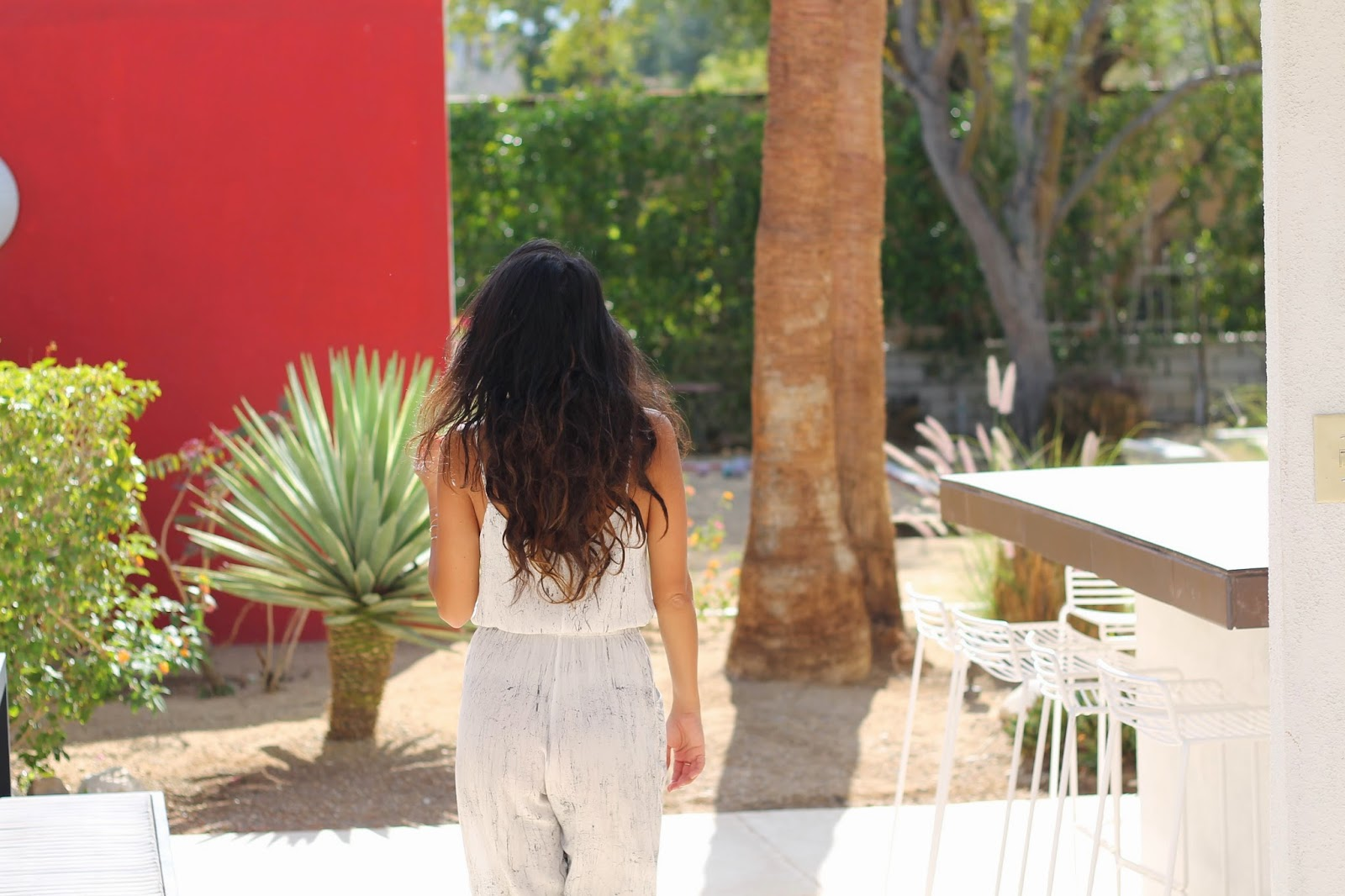 jumpsuit, vacay, palm springs, how to wear a jumpsuit, karen walker,