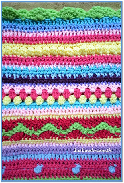 Crocheted Stitch Sampler Blanket