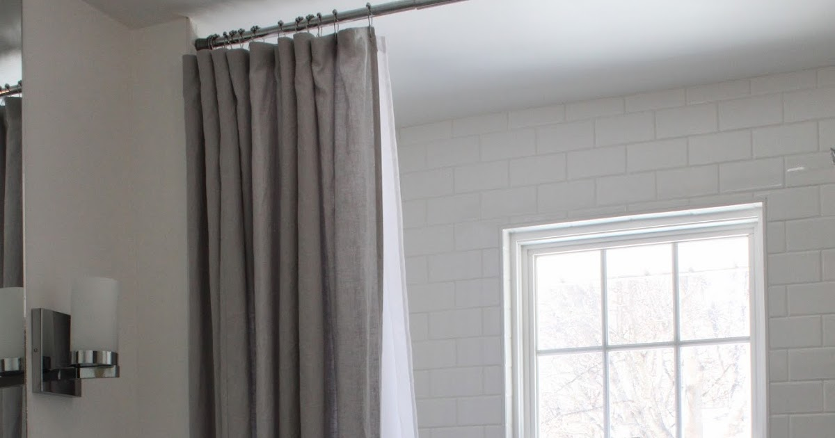 modern jane our extra long shower curtain