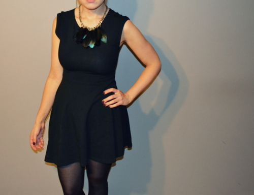 topshop-black-skater-dress