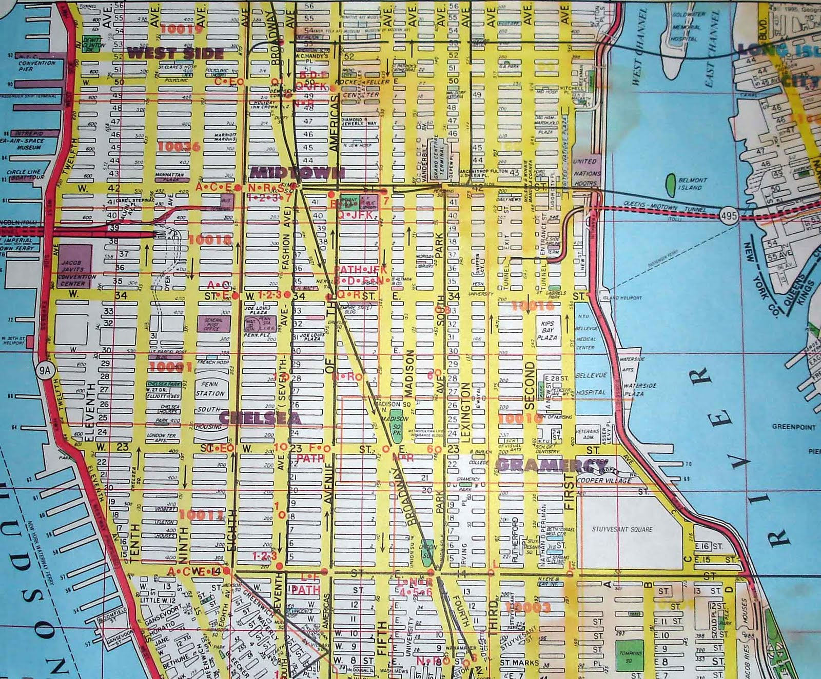 Map Of Midtown Manhattan Area Map Of Manhattan City Pictures