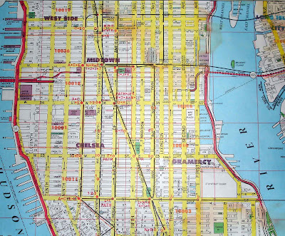 Map of Midtown Manhattan