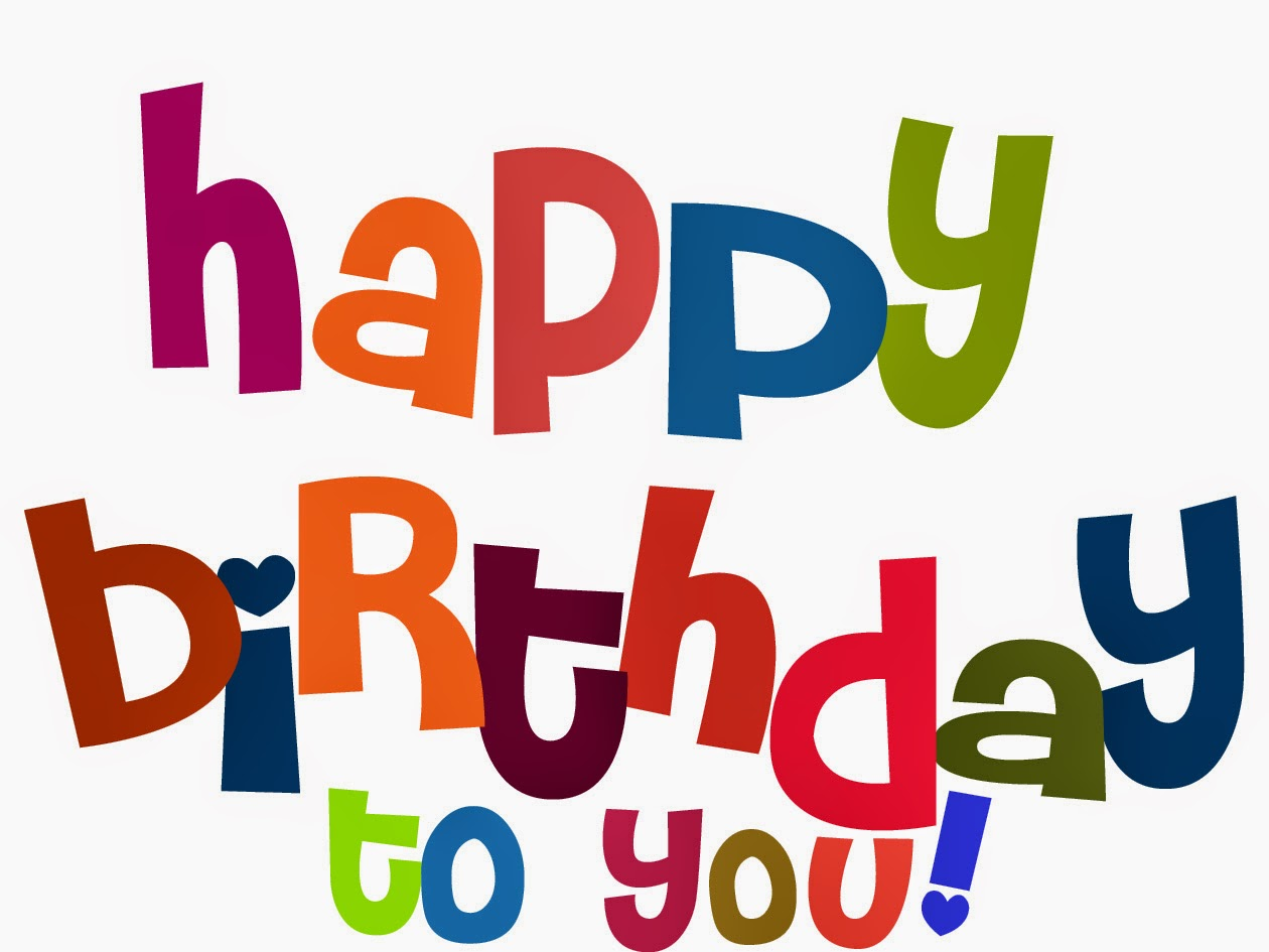 Happy birthday wishes with colour full letters