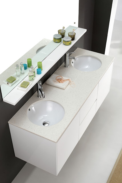 Luxor 1500mm Wall Hung Double Sink White Bathroom Vanity White Bathroom Vanities