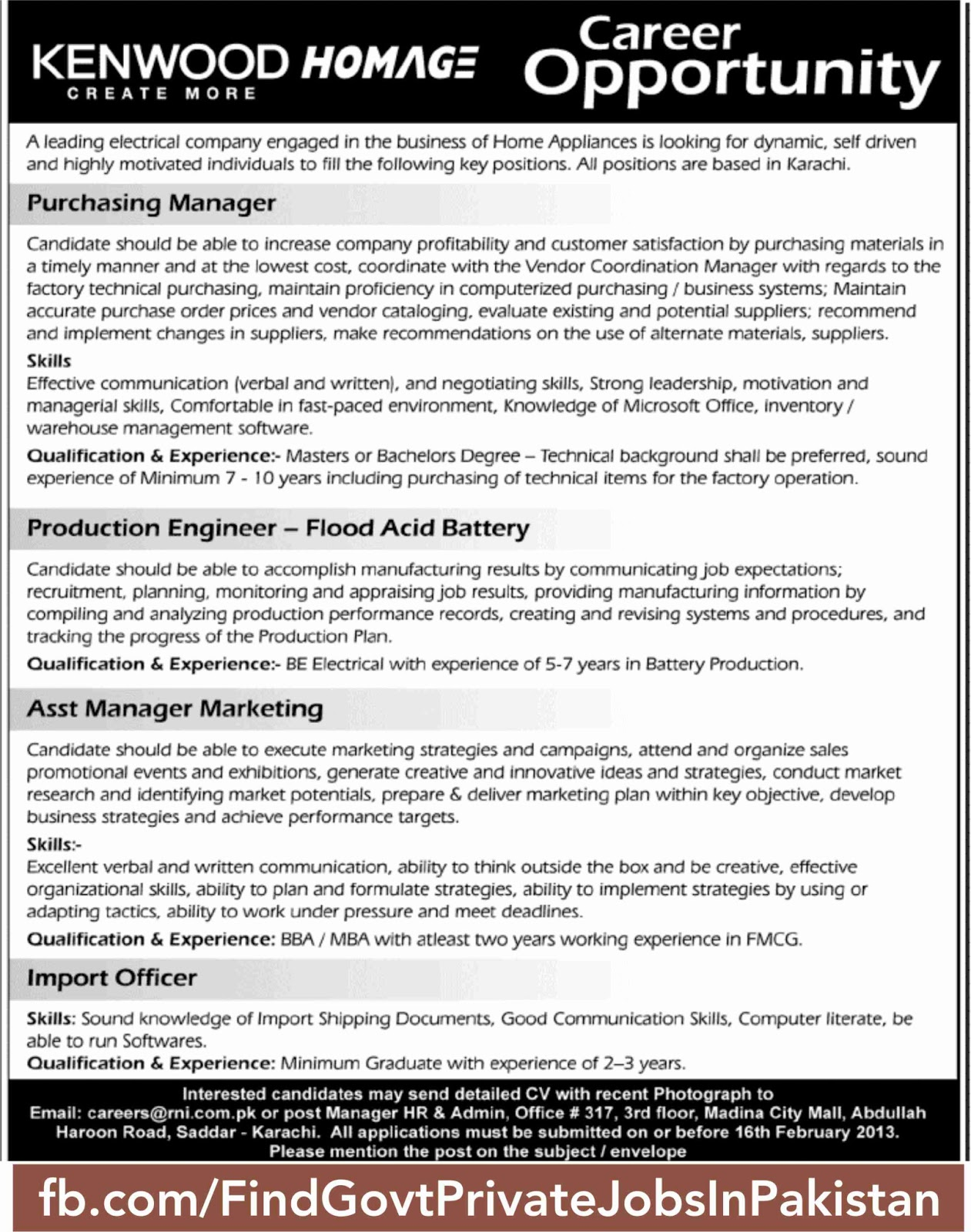 kenwood job opporutinty