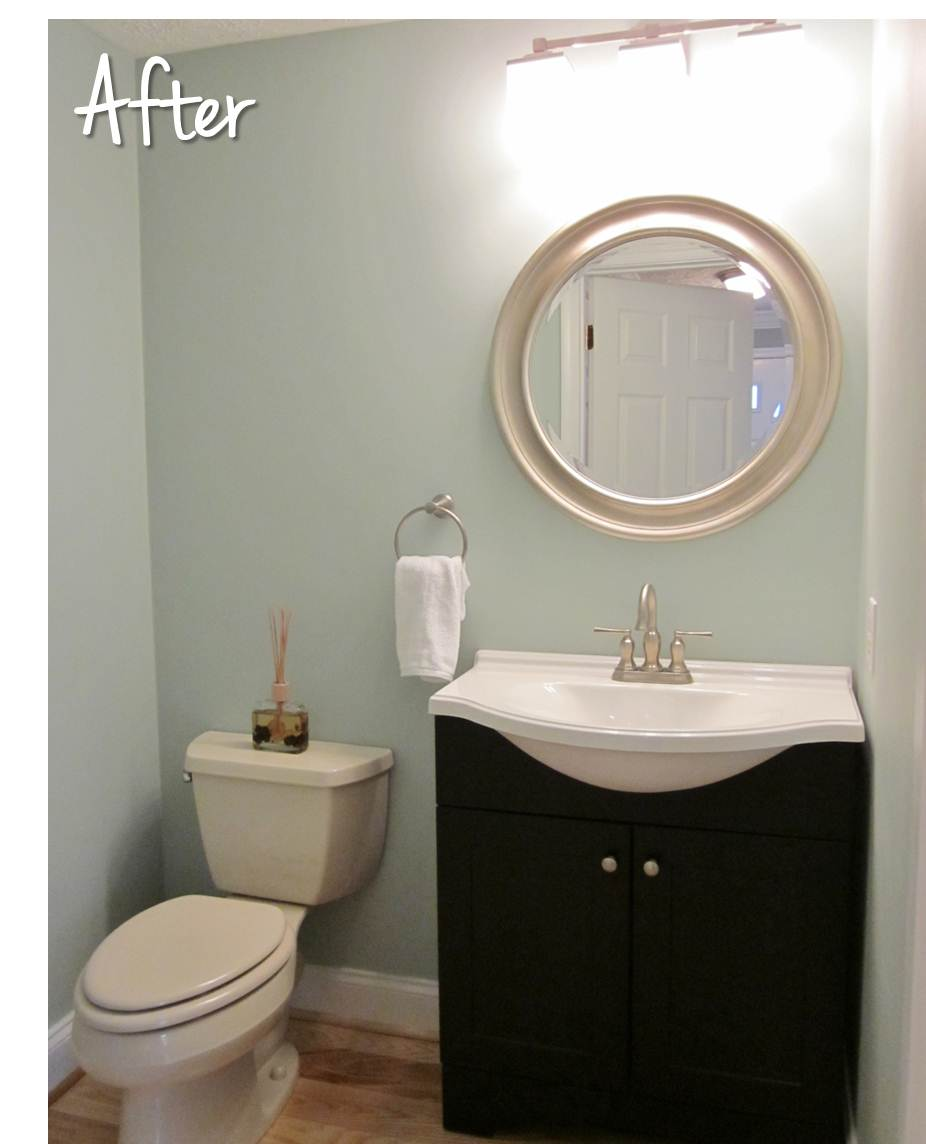 Bonnieprojects half bath reveal for Sherwin williams bathroom paint colors