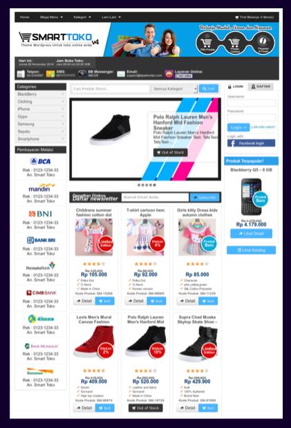 Template toko online tanpa shopping cart