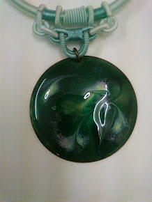 Bronze Green enamelled Pendant