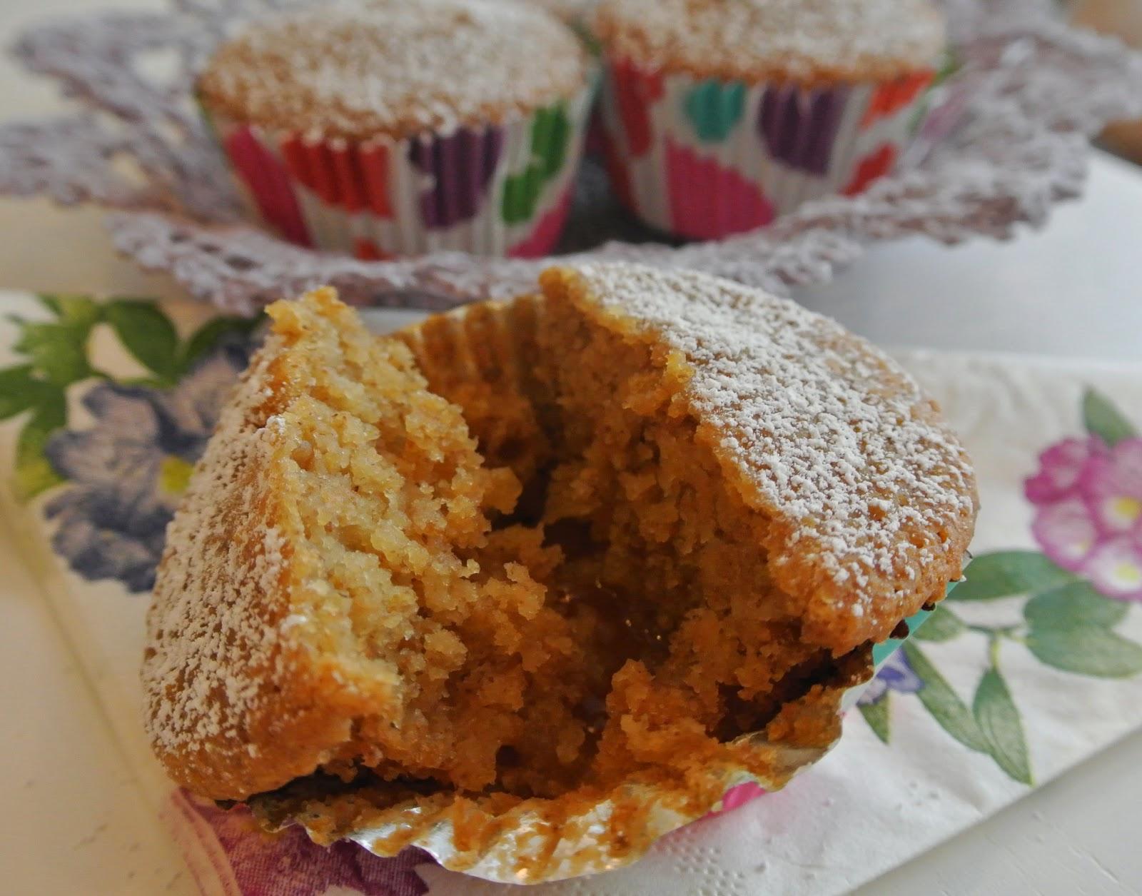 muffin mele e carote con cuore di marmellata