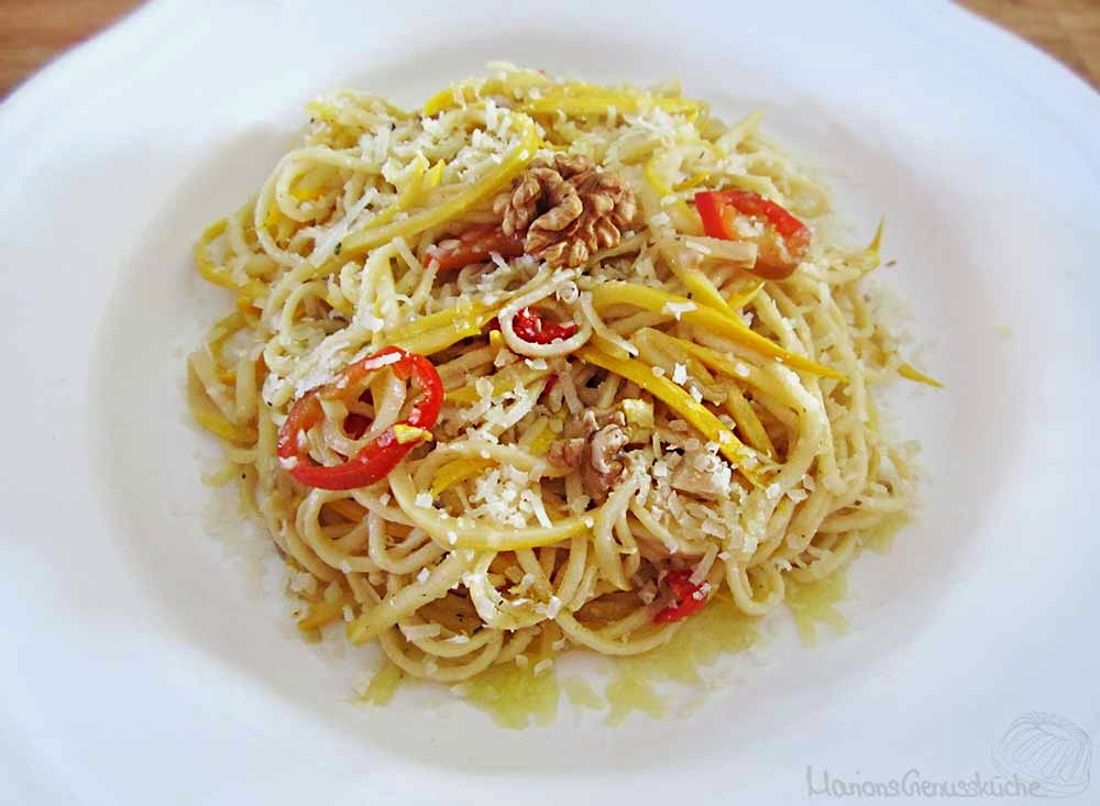 Pastagericht mit Zucchini