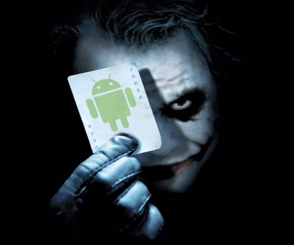 Joker with android card