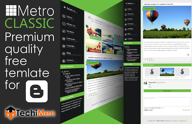 free premium template, template for blogger, metro template