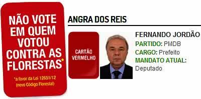 Fernando Jordão votou a favor dos desmatadores!