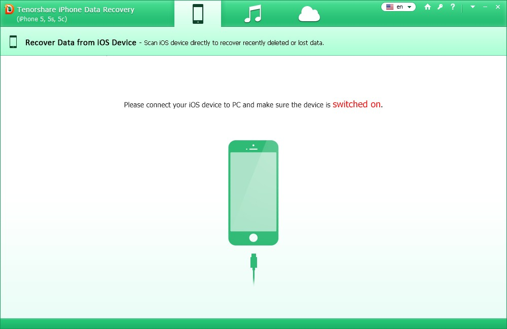 tenorshare iphone data recovery screenshot