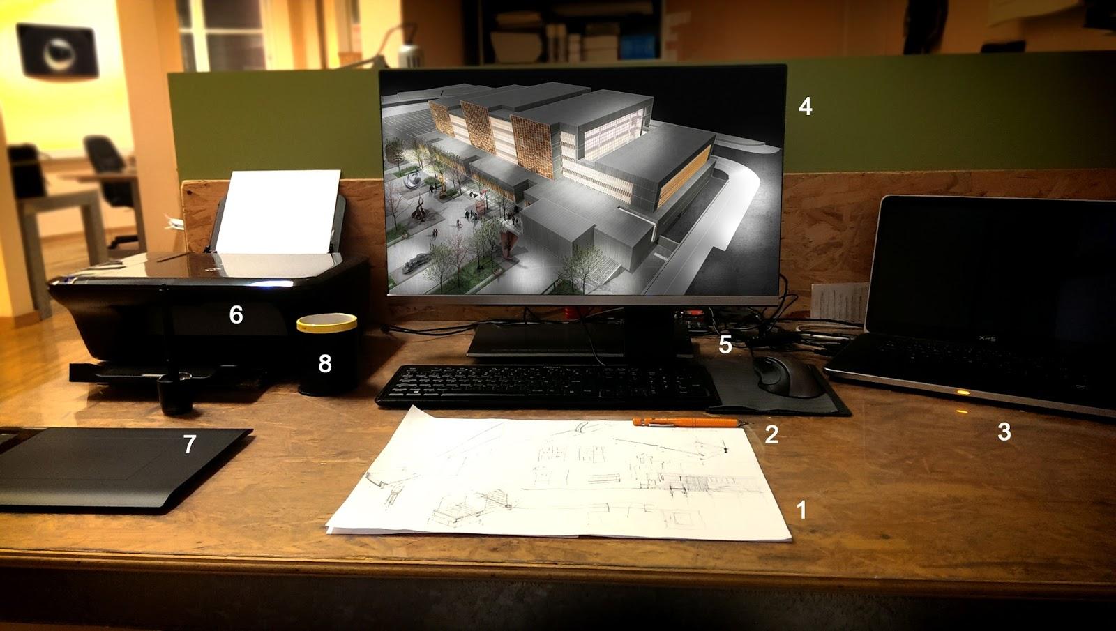 Hago lo que hago qu tiene un arquitecto en su escritorio - Mesas de arquitecto ...
