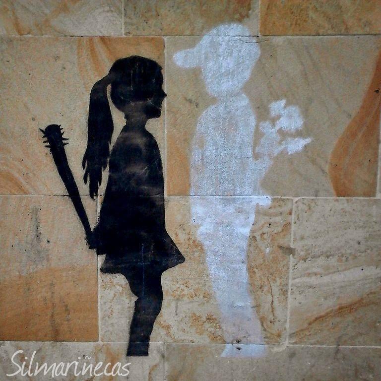 mural en el casco histórico en Bergara