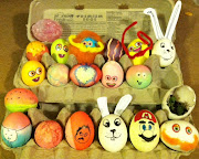 Here's our very lovely Easter eggs! There's a gnome a bunny Mario and . easter eggs