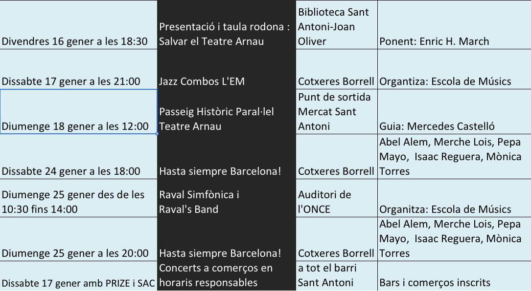 Programam Festa Major 2015