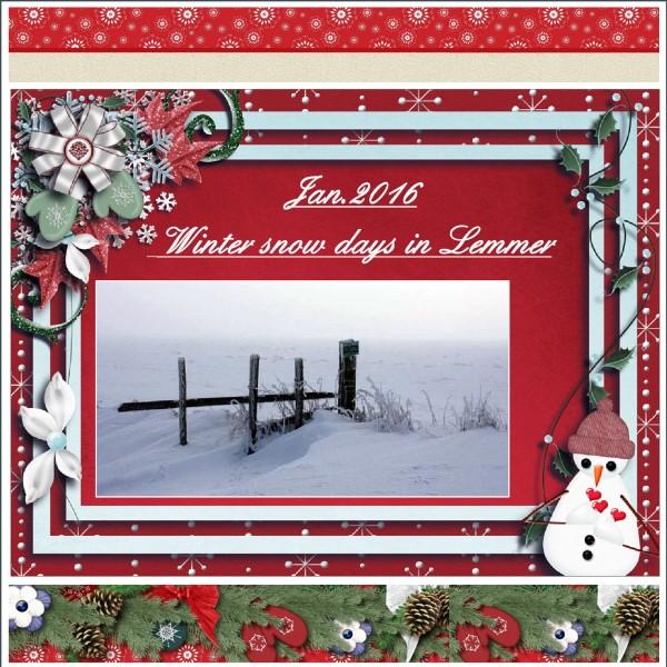 Jan.2016 – Winter snow days in Lemmer