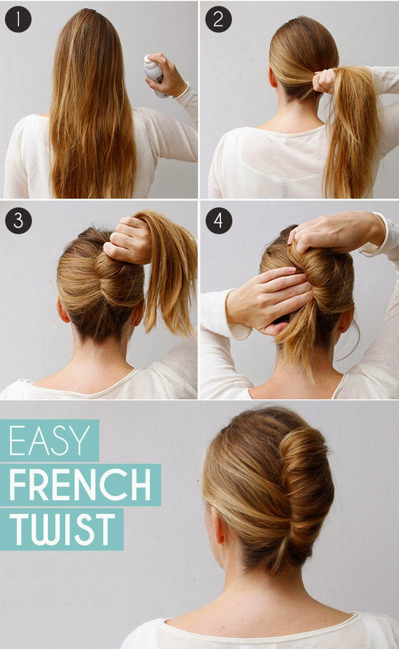 Long Hair French Twist Bun In Few Minutes Step By Step
