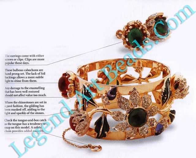 Coro Camellia Bangle and Earrings