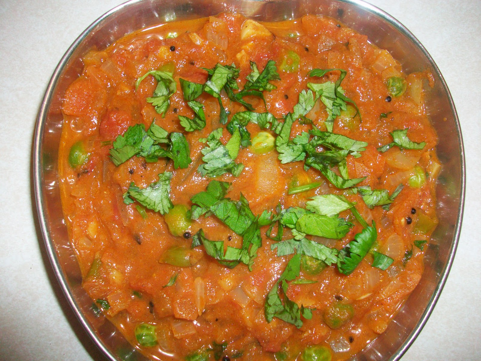 Spicy TreatsOnion Tomato Peas Masala