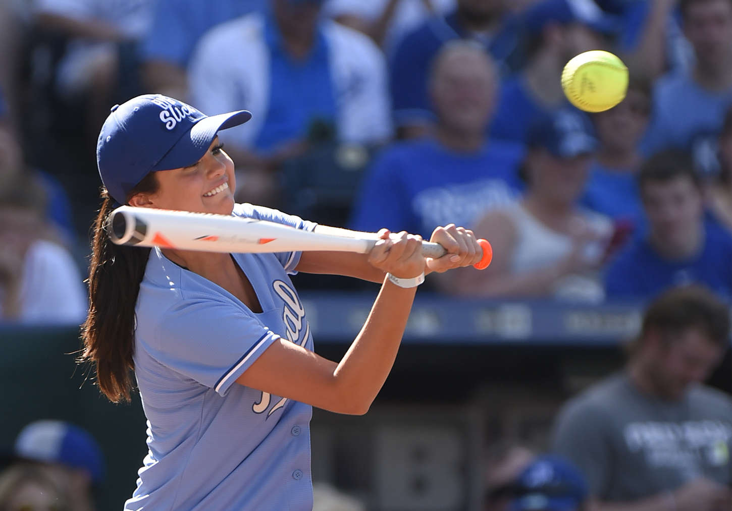 Selena Gomez enjoys the Big Slick Celebrity Softball Game in Kansas City