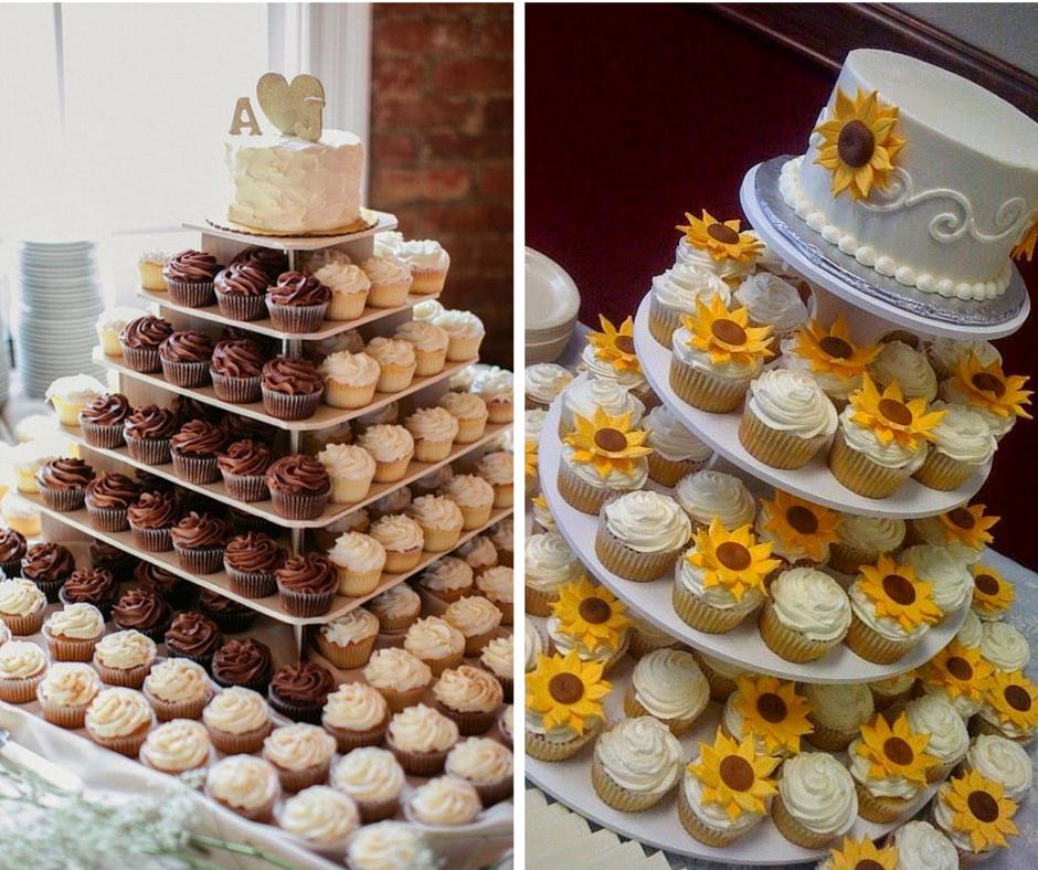 интересни торти за сватба с отделни кексчета
