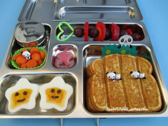 French toast sticks in Planetbox rover, Bento School Lunches