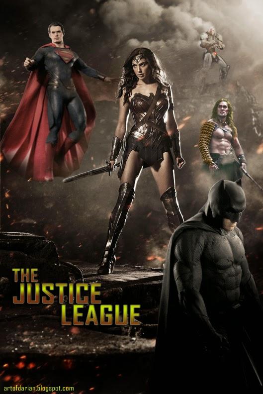 Justice League Movie Fan Art by Darian Robbins