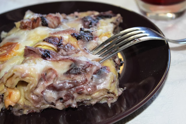 lasagne radicchio e speck