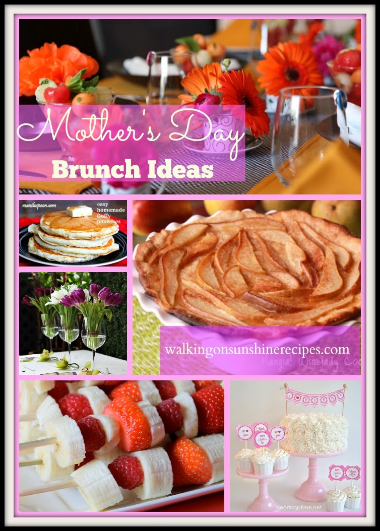 Holidays mother 39 s day brunch and decorating ideas for Mother s day breakfast in bed ideas