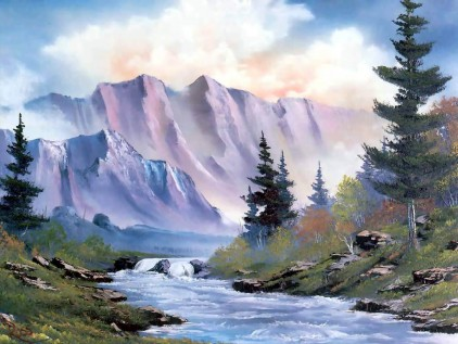 Beautiful Nature & Landscape paintings wallpapers Photos ...