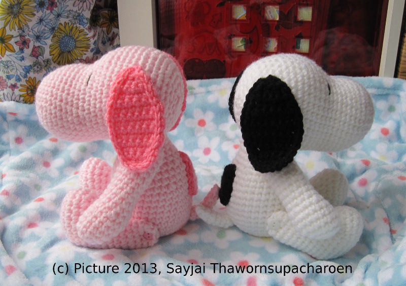 Amigurumi Patterns Snoopy : Pink snoopy sayjai amigurumi crochet patterns ~ k and j dolls k