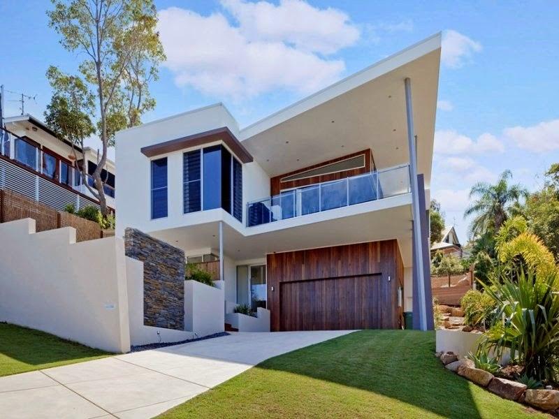 Fachadas de casas modernas fachadas de casas modernas con for Casa moderna 9 mirote y blancana