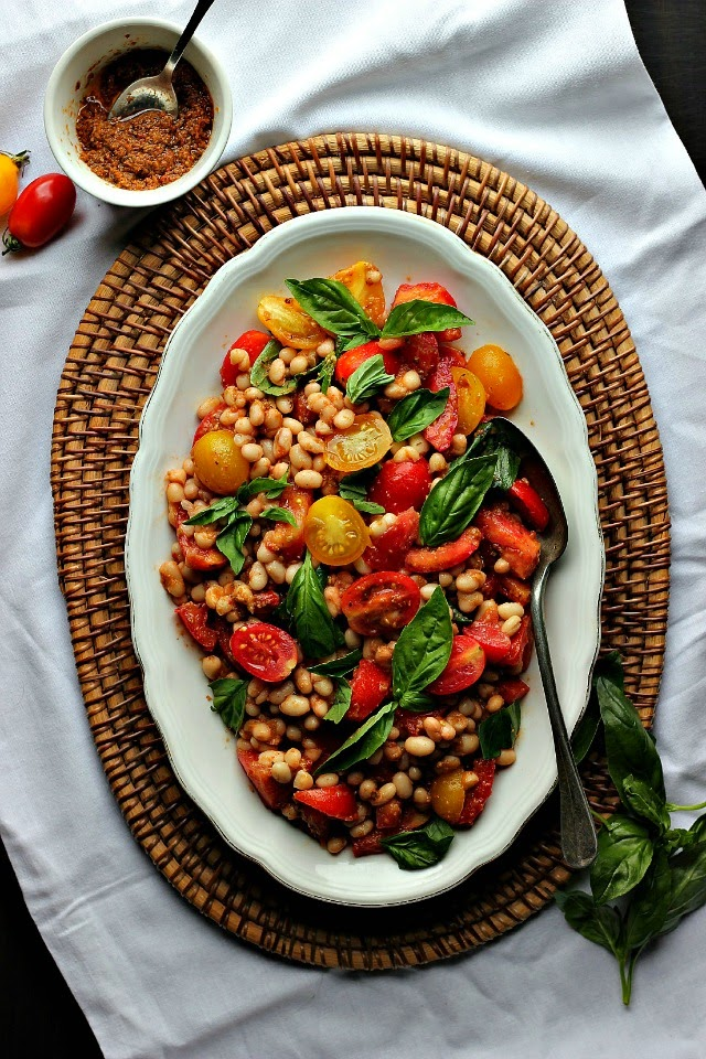 Tomato + White Bean Salad Provençal| happy hearted kitchen