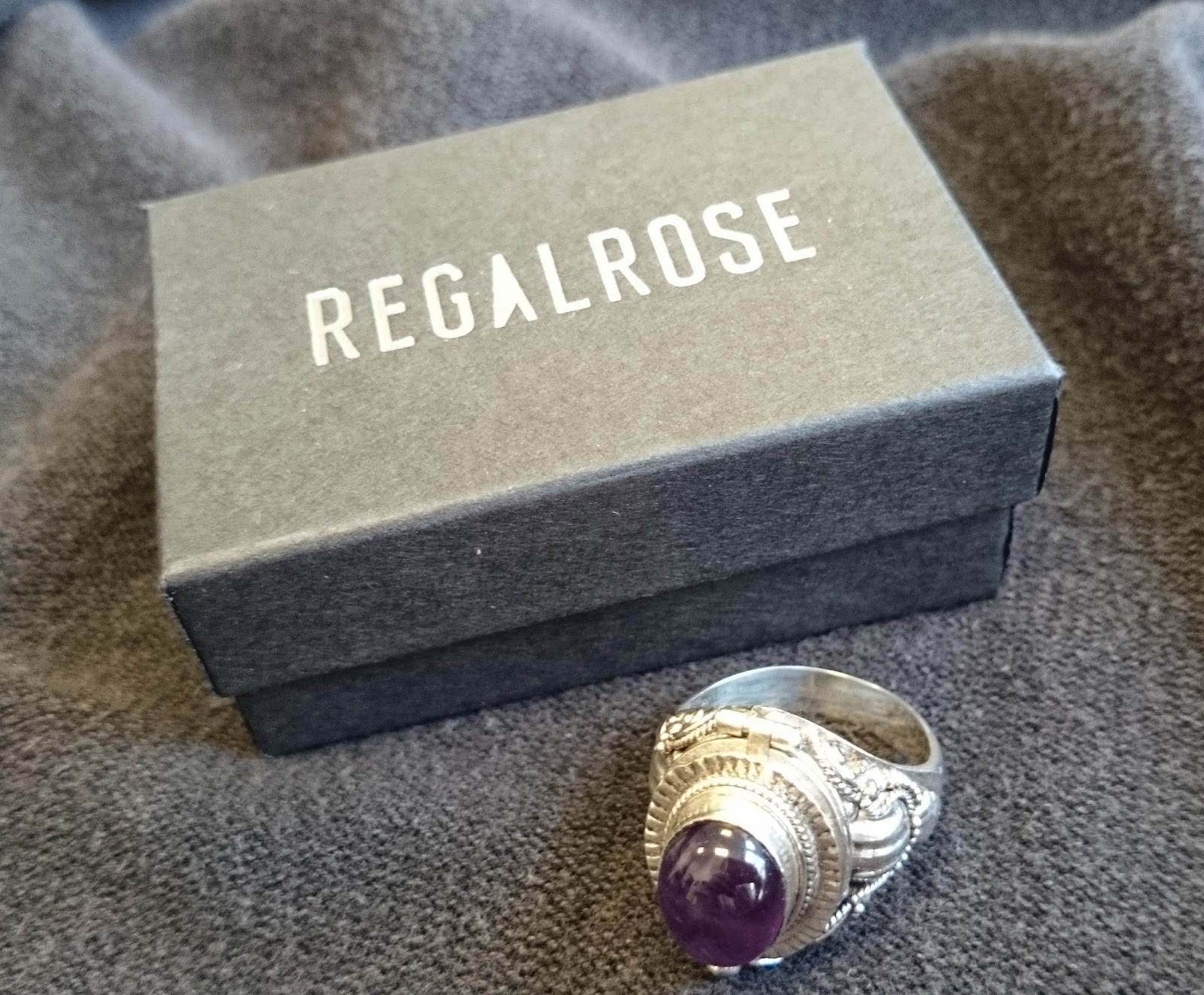 regal rose saros silver poison trinket ring amethyst gothic jewellery