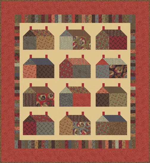 Free Quilt Patterns Moda Fabrics : Barbara Brackman s MATERIAL CULTURE: Modernism: Free quilt pattern from Moda